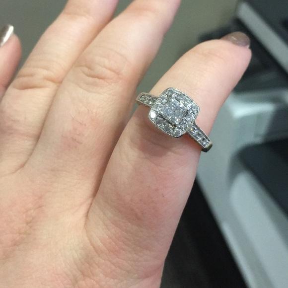 5021f3323 Kay Jewelers Jewelry - Princess Cut 14Kt w/ Braided Diamond wedding band
